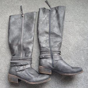 SO Olive Women's Riding Boots Color: Gray Size: 8